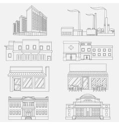 Different urban industrial vector