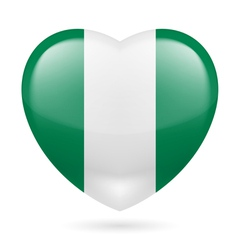 Heart icon of nigeria vector