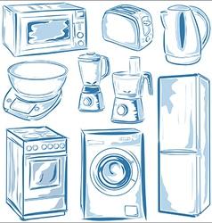 Home Appliances set vector image