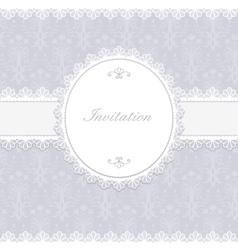 Invitation anniversary card vector image vector image