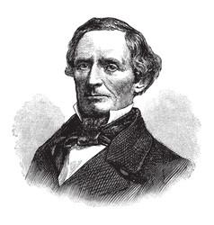 Jefferson davis vintage vector