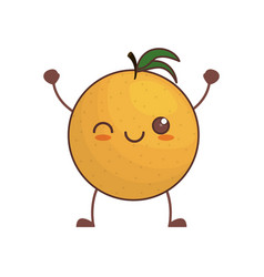 kawaii orange fruit image vector image vector image