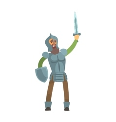 Knight Leading Attack With Sword And Shield Fairy vector image vector image