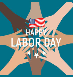 labor day in usa poster background vector image