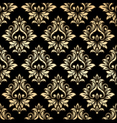 luxury golden damask wallpaper vector image