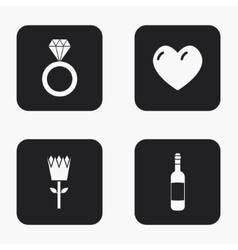modern love icons set vector image vector image