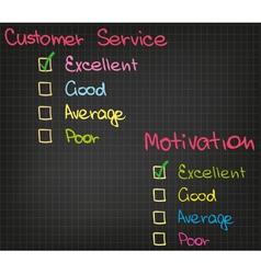Motivation Customer Service vector image vector image