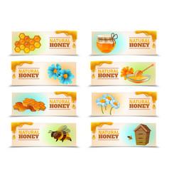 natural honey horizontal banners vector image vector image