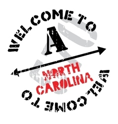 North Carolina stamp vector image