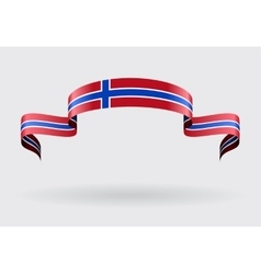 Norwegian flag background vector image vector image