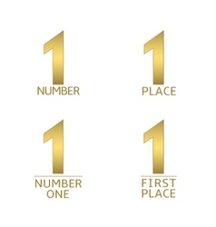 Number one symbols vector image vector image