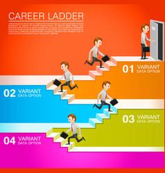 Office worker climbs the career vector