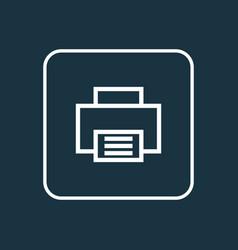 printer outline symbol premium quality isolated vector image