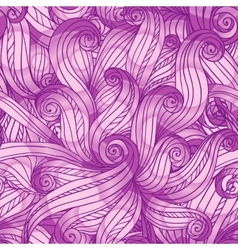 Purple doodle abstract seamless pattern vector image vector image