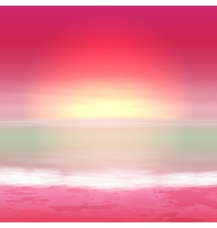 Sea perple sunset vector