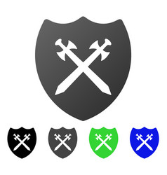 Security shield flat gradient icon vector