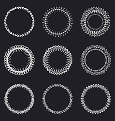 Set of round wreaths frames Hand Drawn wedding or vector image