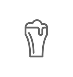 simple beer glass line icon symbol and sign vector image