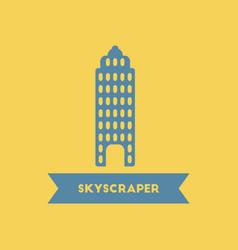 Skyscraper building high rise building vector