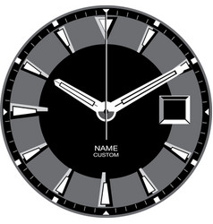 smart watch face h vector image
