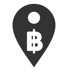Thai baht map marker flat icon vector
