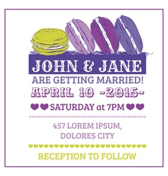 Wedding Invitation Card - Macaroon Theme vector image vector image
