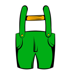 Short green pants icon icon cartoon vector