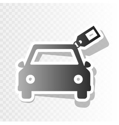 car sign with tag  new year blackish icon vector image