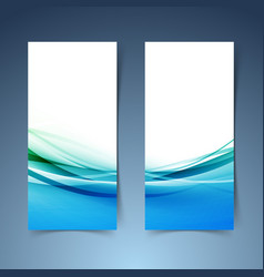 Modern hi-tech swoosh wave banner collection vector