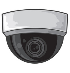 Ceiling surveillance camera vector