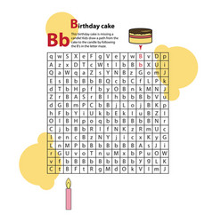 Letter maze b this worksheet helps kids recognize vector