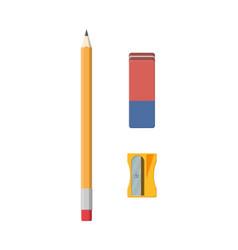 black pencil sharpener and eraser vector image