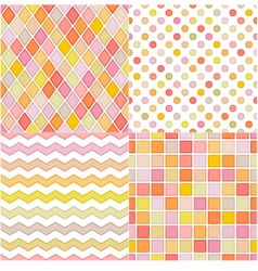 seamless soft multicolor pattern vector image