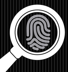 Fingerprint design vector