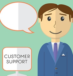 Flat design modern concept of customer support vector