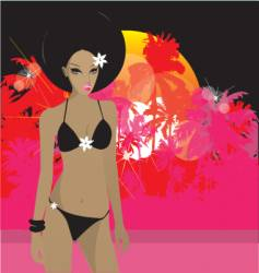 Tropical princess vector