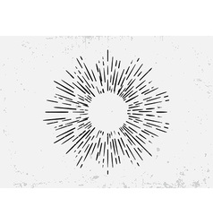Sunburst on starburst element for logo creating or vector