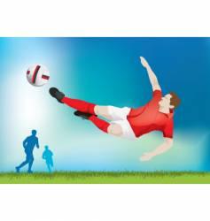 football strike vector image
