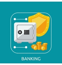 Banking safe protection concept vector
