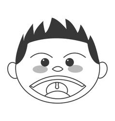 face of boy smiling icon vector image