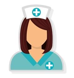 Avatar woman nurse graphic vector