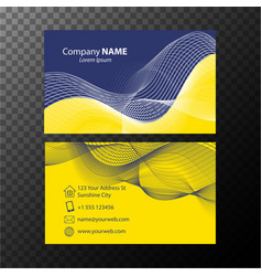 Businesscard template with blue and yellow vector