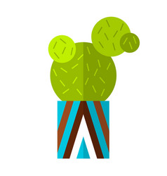 cactus succulent flat color icon vector image vector image