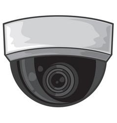ceiling surveillance camera vector image