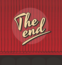 End live stage red curtain vector