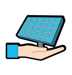 Hand with solar energy element to reuse energy vector