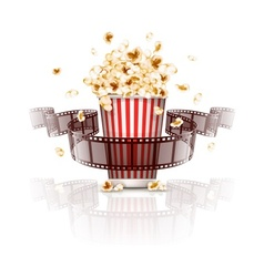 Jumping popcorn and vector image vector image