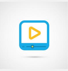Media icon - media player vector