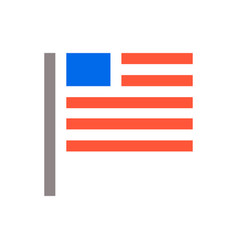 Minimal usa flag icon unaited states of america vector