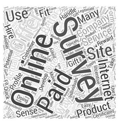 Paid online surveys word cloud concept vector